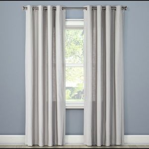 Threshold natural solid light gray curtain 54x84